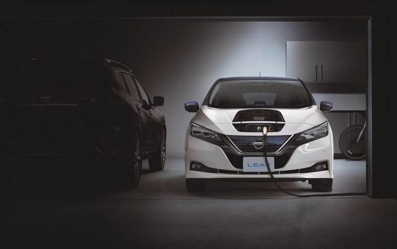 Une Nissan Leaf se recharge