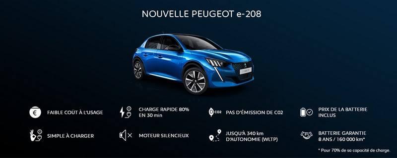 Peugeot e-208 en chiffres