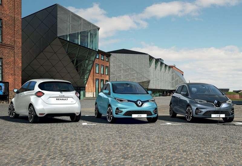 La Renault ZOE 2 sous différentes couleurs