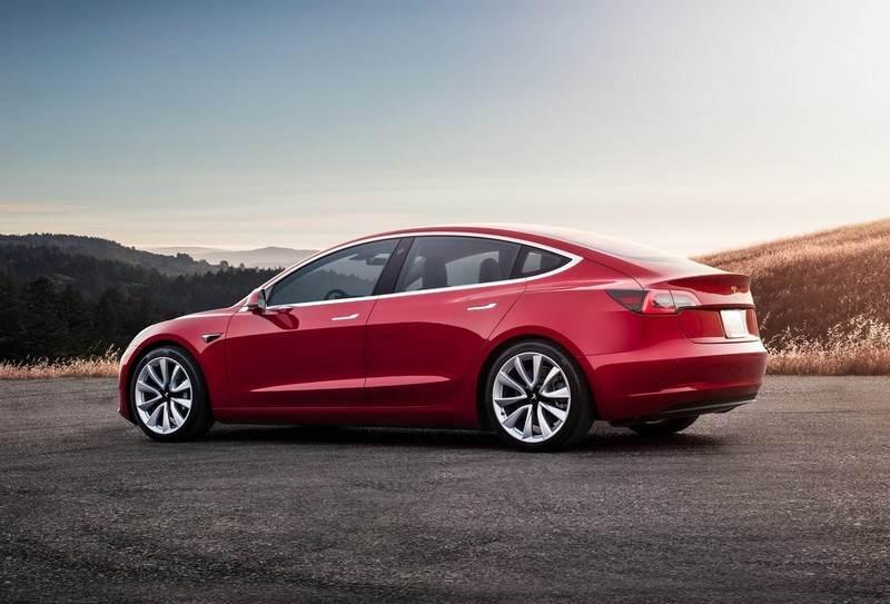 Arrière Tesla model 3