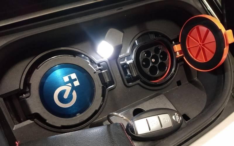 prise de la Nissan Leaf e+