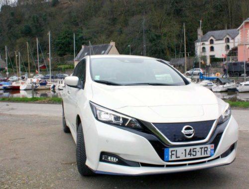 face avant Nissan Leaf e+