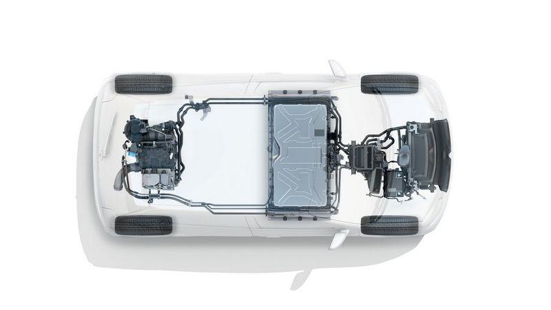 Positionnement de la batterie de la Twingo ZE