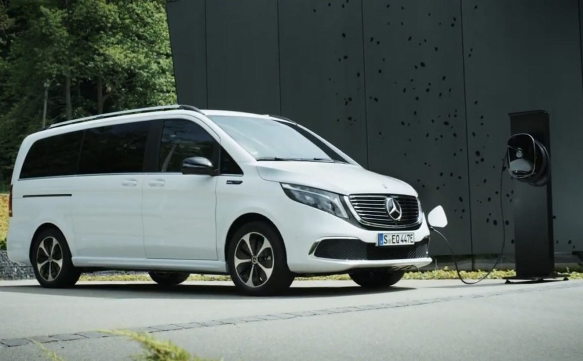 Mercedes EQV se recharge