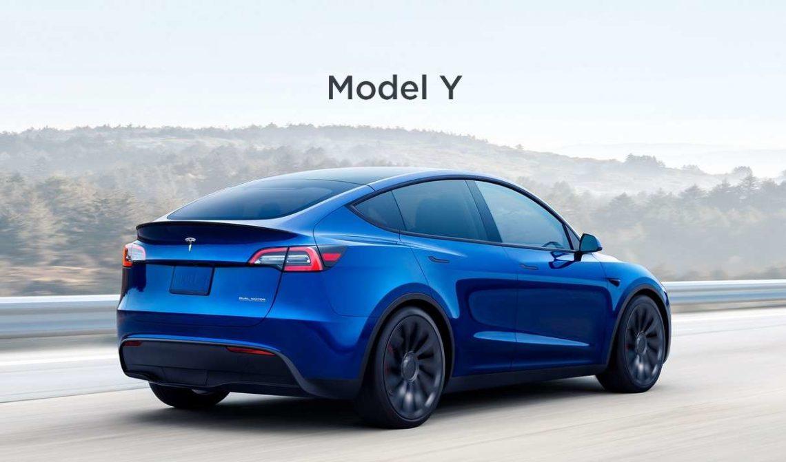Tesla Model Y arrière