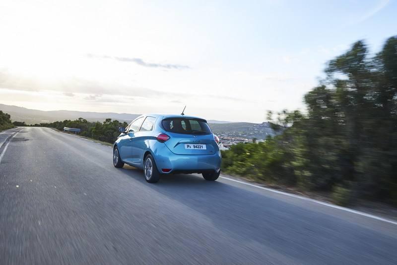 Renault Zoe sur route
