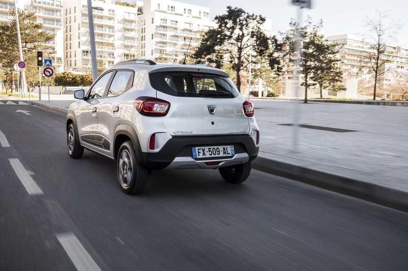 Arrière de la Dacia Spring